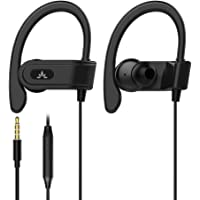 Avantree E171 Sports Headphones Wired with Microphone, Over Ear Earbuds with Ear Hook, in Ear Running Earphones for Workout Gym Compatible with iPhone