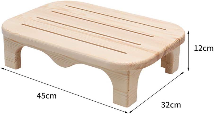 Mltdh Fußschemel, Kleiner Holzhocker, Tritthocker, rutschfestes Design, stapelbar, Gute Tragfähigkeit, Kinder-Esszimmerhocker, 32x45x12cm,C C