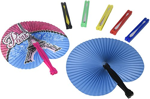 Rhode Island Novelty 097138731548 Folding Fan Assortment (4 Dz)