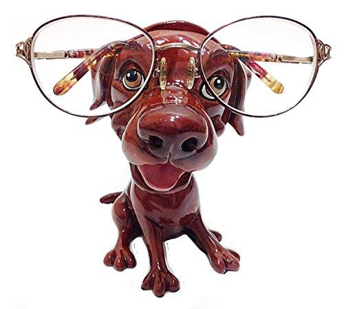 (Chocolate Labrador Retriever Dog Breed Novelty Eyeglass Holder Stand)