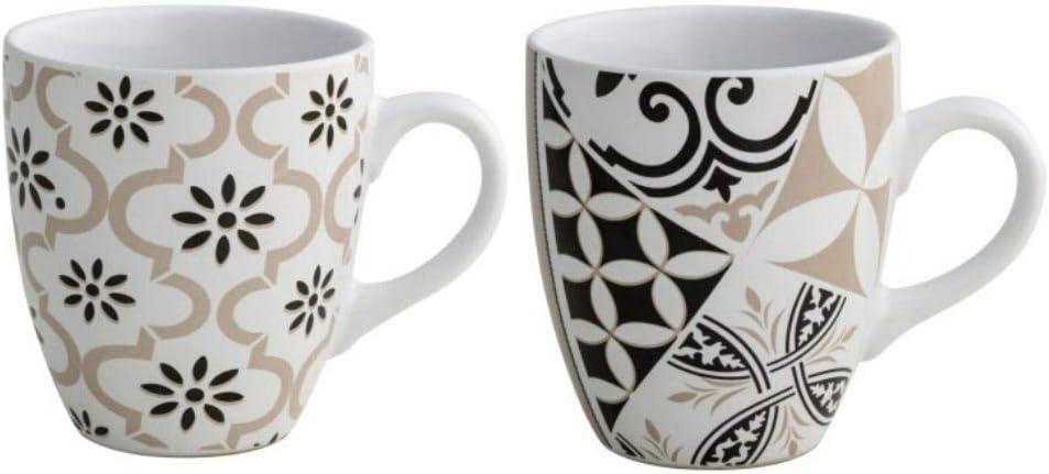 Brandani 53178 Alhambra - Juego de 2 tazas de gres, multicolor ...