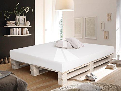 PALETTI Massivholzbett Duo Holzbett Palettenbett Bett aus Paletten ...