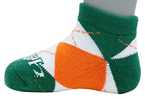 (Donegal Bay NCAA Notre Dame Fighting Irish Unisex Irish Baby Argyle No Showirish Baby Argyle No Show, Green, BAX 12-24 Months)