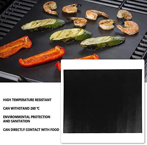 tropicalboy 3PCS Tapis de Cuisson Barbecue Anti-Adhérent sans-PFOA,Tapis Barbecue Réutilisable ;50x40cm,Tapis Plaque Feuille de Cuisson,Papier Cuisson pour Barbecue Grille et Four