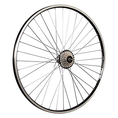 Taylor Wheels Rueda trasera para bicicleta (28 ZAC19 con 7 compartimento Shimano STI Corona - Negro: Amazon.es: Deportes y aire libre