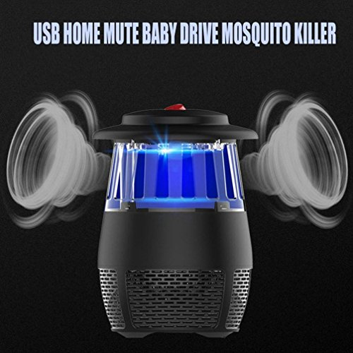 USB Stheanoo Mosquito Zappers Electric Fly Bug Insect Killer LED Light Pest Trap Lamp Non-toxic, Non-polluted, Radiation-free Mosquito Killer for Home Kitchen Bedroom (black) by Stheanoo Zapper (Image #4)