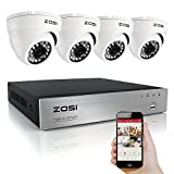 ZOSI 8CH Channel DVR 800TVL Outdoor Vandalproof Dome IR CCTV Video Home Security Camera System no HDD ¡