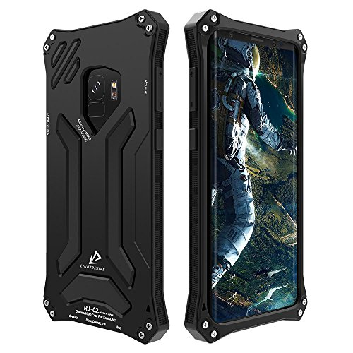 Galaxy S9 Case, LIGHTDESIRE Shockproof Rugged Military Aluminum Bumper Frame with Anti-Slip Side Grip for Samsung Galaxy S9 (Black)
