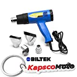 Biltek Heat Gun Kit w/Accessories 1500 Watt Dual Temperature Shrink Wrapping 752-1022F + KapscoMoto Keychain