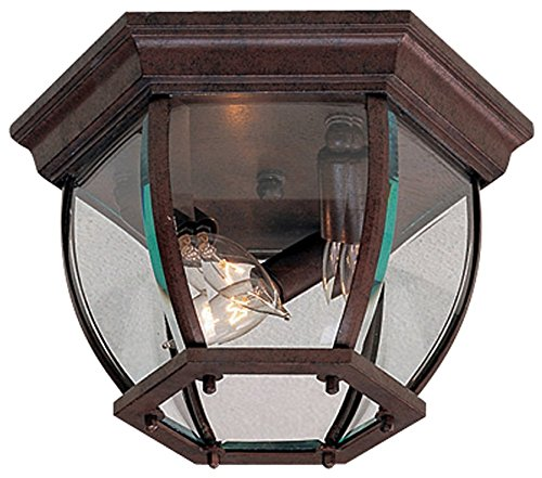 - Minka Lavery Outdoor Ceiling Lighting 71174-91, Flush Mount, 120 Watts, Bronze