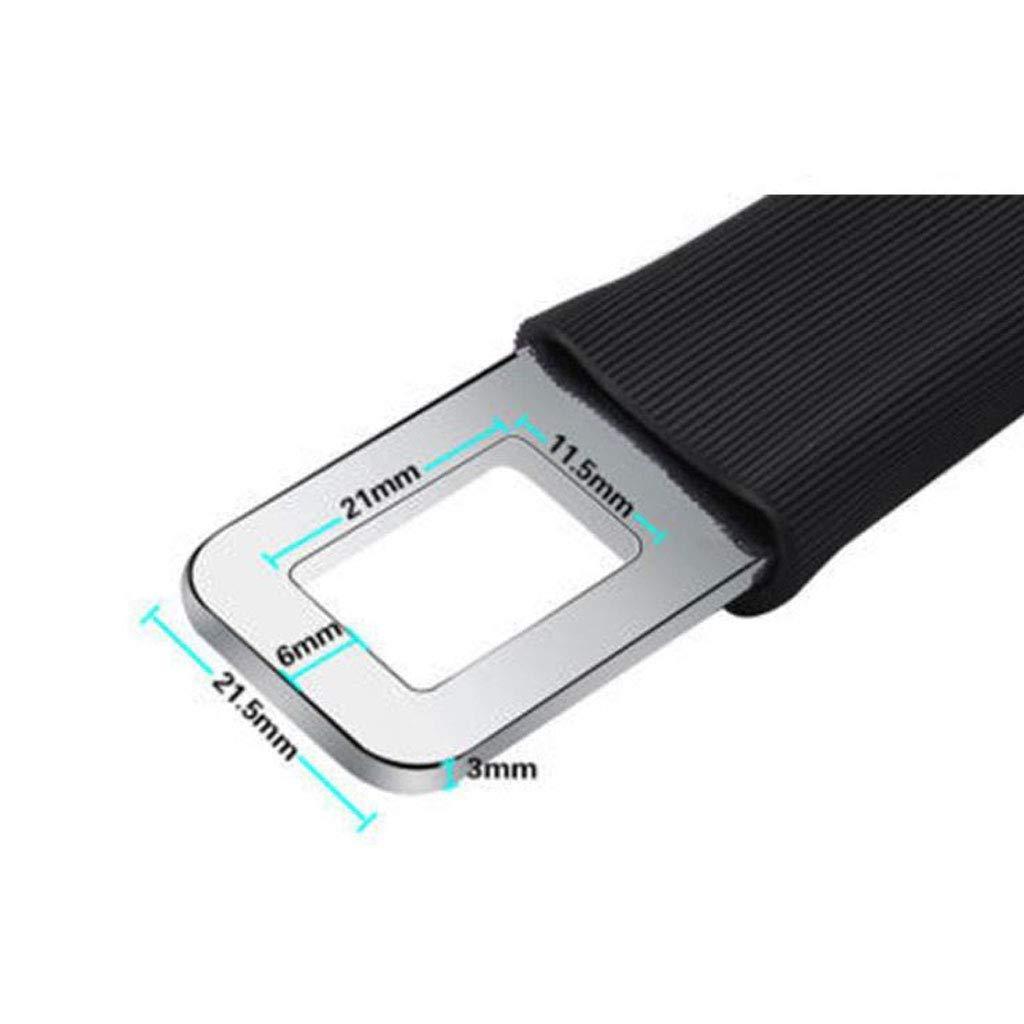 7//8 Metal Tongue 2 Pack Car Seat Belt Extender Universal Seat Belt Extension Seatbelt Buckle E11 Safety Certified