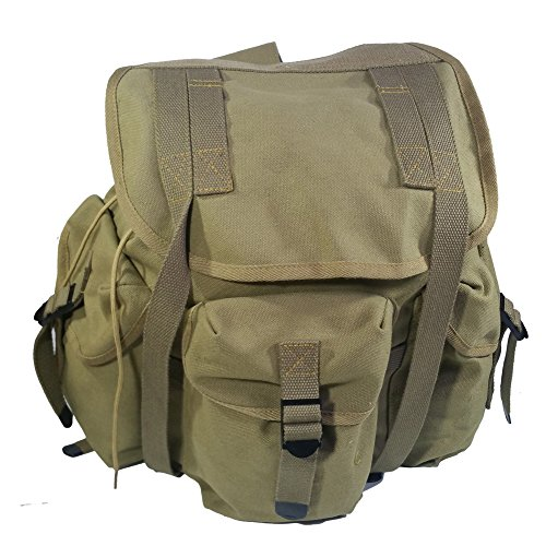 WW2 WII US Military M14 Haversack Field Bag Backpack Canvas 3e115ffafd4