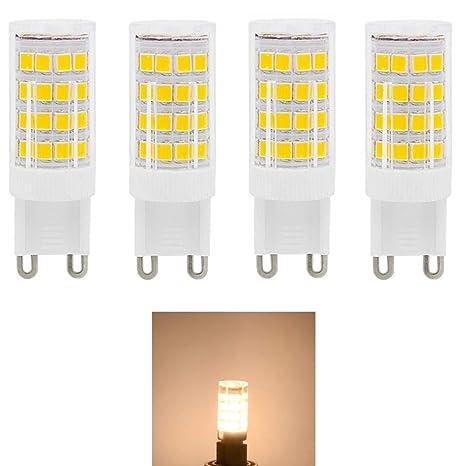 Bombillas LED G9 de 5W,Equivalentes a Lámparas halógenas de 40W,Blanco cálido 3000K