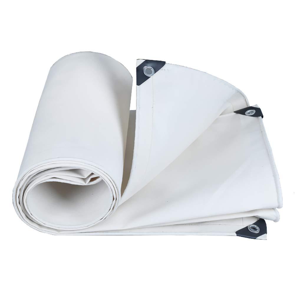 Qing MEI Weiße Wasserdichte Leinwand Plane Wasserdichte Sonnencreme Verdickung Baldachin Markise Öl Regen Tuch Plane Isolierung A+ (größe   3M×5M)