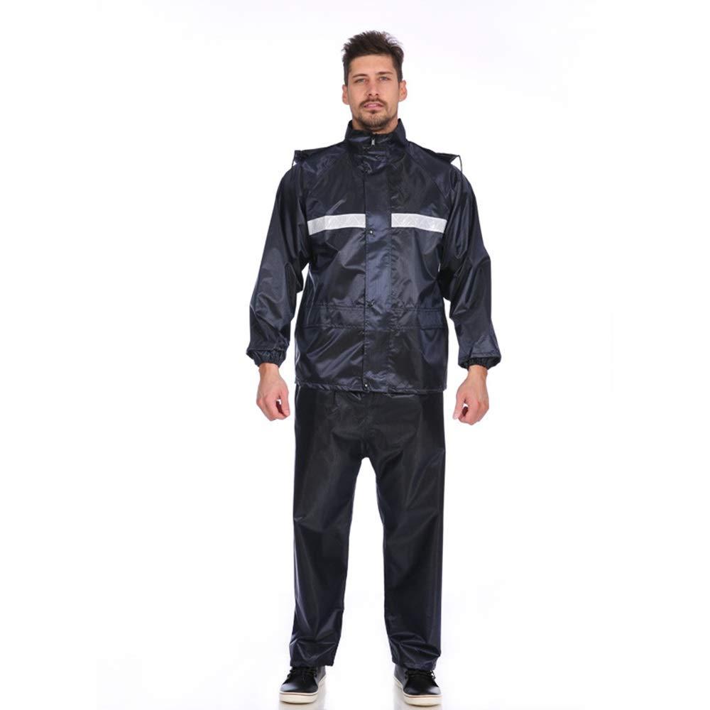 Uiophjkl Sport-Regenjacke Verdicken Motorrad Regenmantel Regenmantel Regenhosenanzug Erwachsene Reflektierende Doppelschicht Wasserdichter Bergwinddichter Ski-Regenanzug (Größe : XXXL)