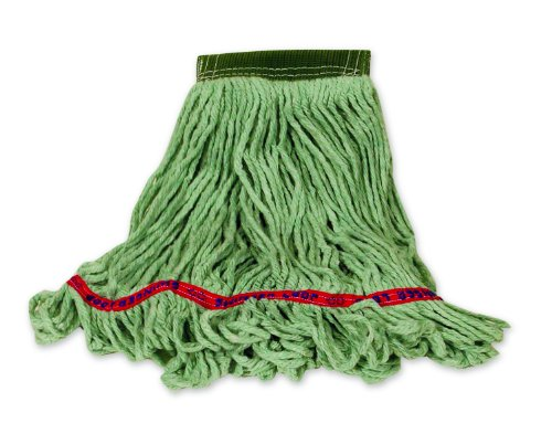 Rubbermaid Commercial Products Swinger Loop Mop, Medium, 5-inch Headband, Green (FGC15206GR00)