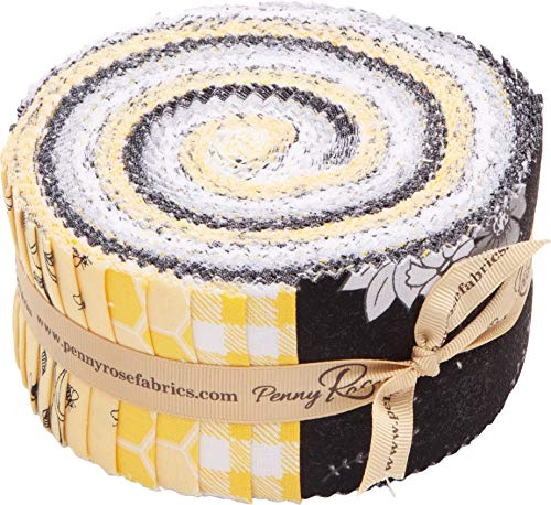 Jill Finley Honey Run Rolie Polie 40 2.5-inch Strips Jelly Roll Penny Rose Fabrics