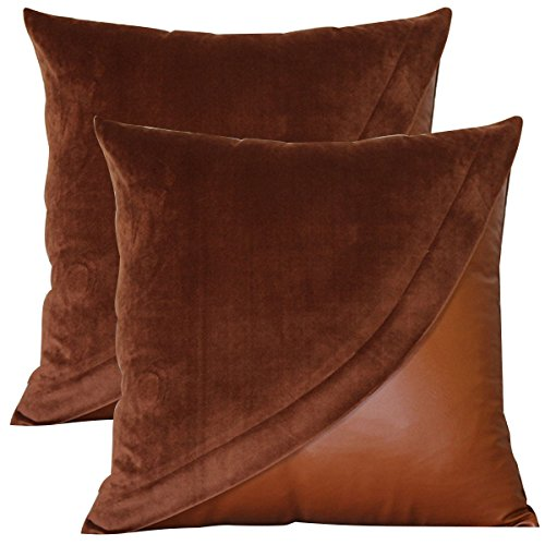 lazamyasa-pack-of-2-sofa-pillows-soft-batik-effect-pu-faux-leather-throw-pillows-home-decorative-cha