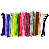 Pistha 400Pcs Pipe Cleaners Chenille Stem 6mm x 12 inch Reusable Craft Bendable Twistable Children Puzzle Kindergarten Handmade DIY Art Supplies Home Decor Assorted Colors Assorted Colors