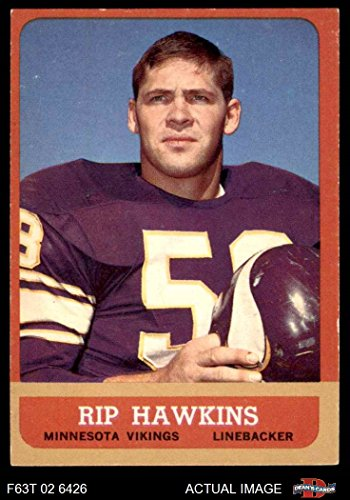 - 1963 Topps Football 106 Rip Hawkins Excellent (5 out of 10) by Mickeys Cards