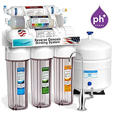 Express Water 10 Stage Alkaline Antioxidant Reverse Osmosis Home Drinking Water Filtration System - CLEAR