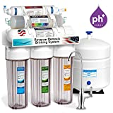 home drinking water treatment systems Express Water 10 Stage Alkaline Antioxidant Reverse Osmosis Home Drinking Water Filtration System - CLEAR