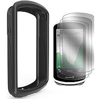 TUSITA Case with Screen Protector for Garmin Edge 1030 GPS - Silicone Protective Cover Skin - Bike Computer Accessories
