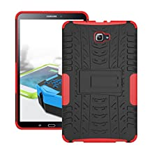 Galaxy Tab E 9.6 Case, Galaxy Tab E 9.6 Cover, Dual Layer Protection Shock Absorption Hybrid Rugged Case Hard Shell Cover with Kickstand for Samsung Galaxy Tab E 9.6 [SM-T560/T561] (Red)