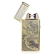Padgene Double Electronic Pulse Arc Cigarette Lighter Dragon Rechargeable