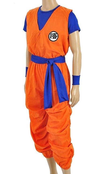 OLLOLCCY Traje de Cosplay de Dragon Ball 3 Piezas Son Goku ...