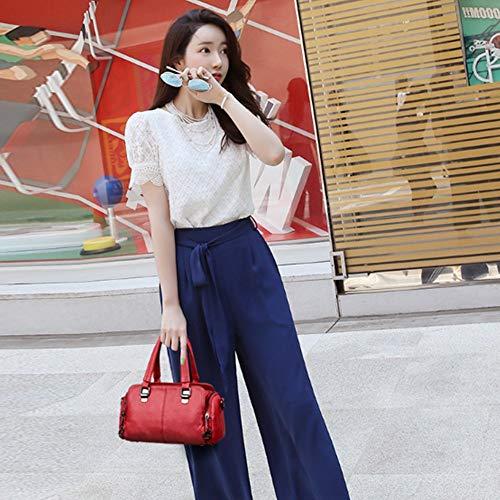 Bag Simple Sacs bandoulière Zhwei Mode coréenne Grande à Rouge capacité New Version Couleur Women Noir wPqXSEXB