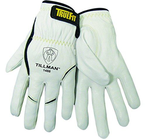 John Tillman 1488 S True Fit Small Top Grain Kevlar/Goatskin Super Premium Grade TIG Welders' Glove with Elastic Cuff, V Design Thumb/Hook/Loop Closure, English, 15.34 fl. oz, Plastic, 1 x 10 x 4.25 -