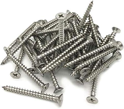 50pcs Metric M4x25mm 304 Stainless Steel Cross Recessed Phillips Pan Head Screws