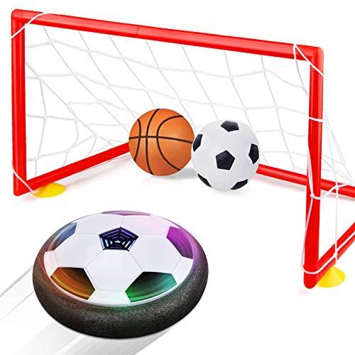 2 Sticks Air Soccer Hover Ball Frame/&Net. Hovering Hockey Toys Set Indoor Games for Kids Sports Gifts Toys for 3 4 5 6 7 8-9 10 11 12 Year Old Boys Girls Hockey Toys for Boys