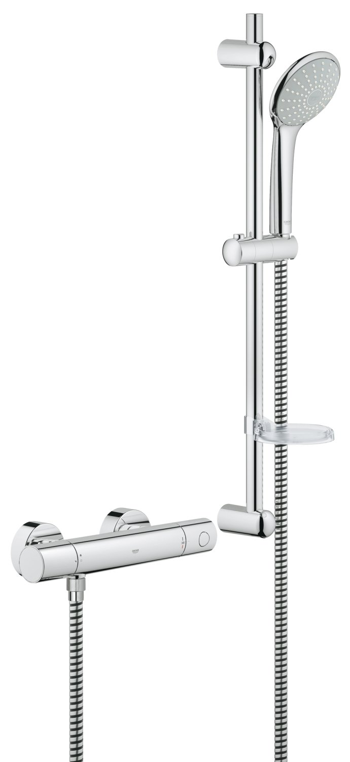 GROHE 34437000   Grohtherm 1000 Cosmopolitan M Shower Set  Amazon  Grohe Shower Mixer Valve   Mobroi com. Grohe 1000 Thermostatic Bath Shower Mixer. Home Design Ideas