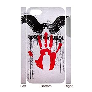 wugdiy New Fashion Hard Back Cover 3D Case for iPhone 4,4S with New Printed Supernatural
