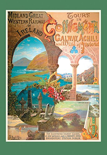 ArtParisienne Tours in Connemara Midland Great Western Railway of Ireland 20x30 Poster Semi-Gloss Heavy Stock Paper Print