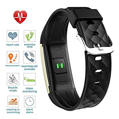 Imoo house Fitness Tracker Heart Rate Monitor Activity Health Tracker Waterproof Smart Wristband Band with Pedometer Sleep Monitor Step Calorie Counter Bluetooth Bracelet for Swimming Bicycling