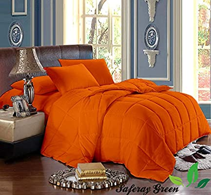 Amazon.com: Orange 3pc Comforter Set   Eastern King Size 118 x 110