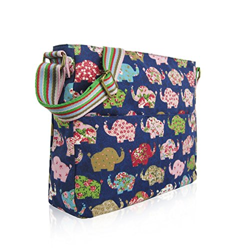 d whale Messenger Body London Elephant New Cat Bag Unicorn Canvas mixed School Bags Girls Blue elephant Craze cross rabbit umberilla Ladies anchor critters 1Tqx6wA