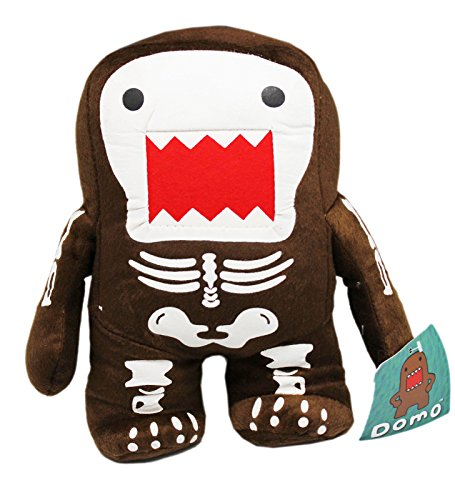 Domo Wearing a Skeleton Costume Small Kids Plush Toy (9in) -