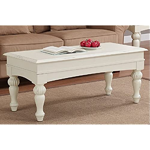 Vanilla Wasatch Coffee Table Adds A Traditional Touch To Your Home Decor.  These Coffee Tables Feature A Distressed Vanilla White Finish With Non Mar  Foot ...
