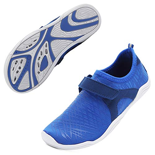 c9d259b6 Boys & Girls Water Shoes Lightweight Comfort Sole Easy Walking Athletic Slip  on Aqua Sock(