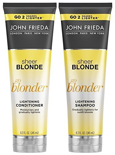 John Frieda Sheer Blonde Go Blonder Lightening Shampoo and Conditioner, New 8.3 Fluid Ounce (John Frieda Blonde Sheer Shampoo)