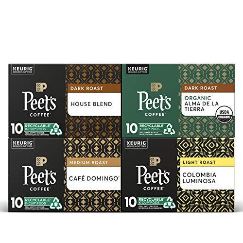 Peet's Coffee Dark, Medium, & Light Roast Variety
