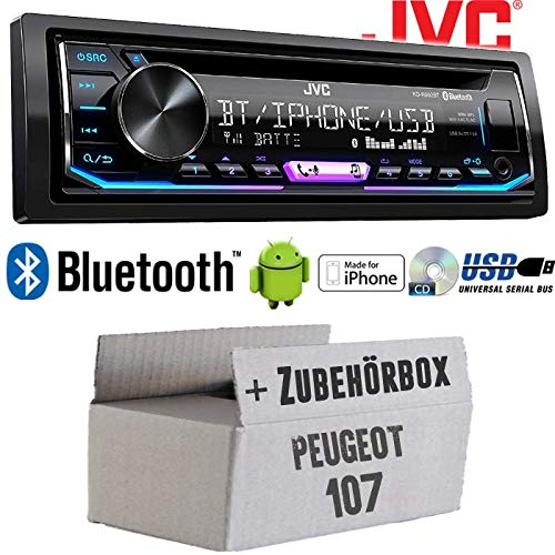 USB Einbauset f/ür Peugeot 107 Einbauzubeh/ör Multicolor Bluetooth Autoradio Radio JVC KD-R992BT JUST SOUND best choice for caraudio Android MP3