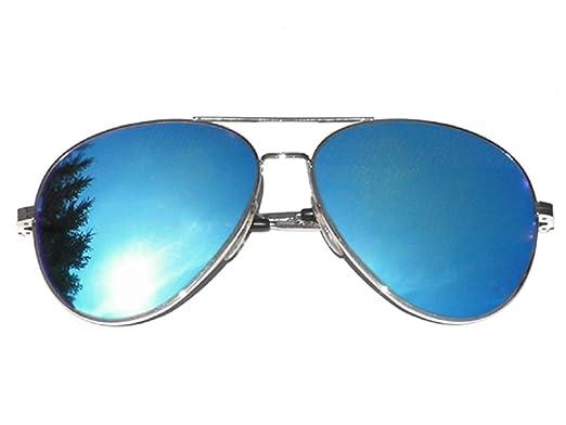 Tedd Haze Pilotenbrille schwarz blau verspiegelt mit Brillen Beutel qgqHz