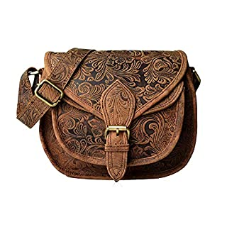 New Leather Crossbody Purse for Women- Small Crossover Cross Body Bag Long Over the Shoulder Sling Womens Purses and Handbags……