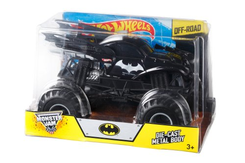 41PXEgmmnzL Hot Wheels Monster Jam Batman Die-Cast Vehicle, 1:24 Scale