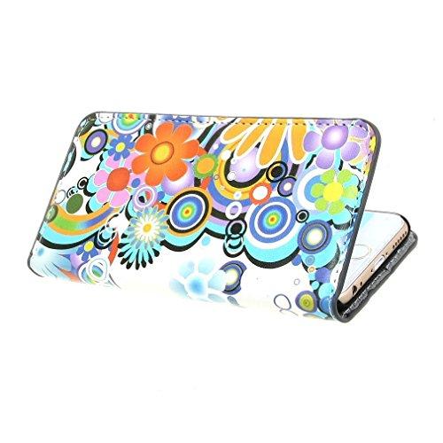 2# Beutel Blume PU Leder Stehen Schutzhülle Hülle Tasche Schale Case Cover für Apple iPhone 6 (4.7 inch)